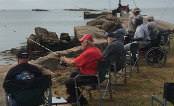 Vets Fishing in Branford